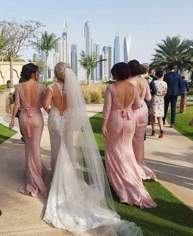 Alara in Blush for Sophie's incredible Dubai wedding.