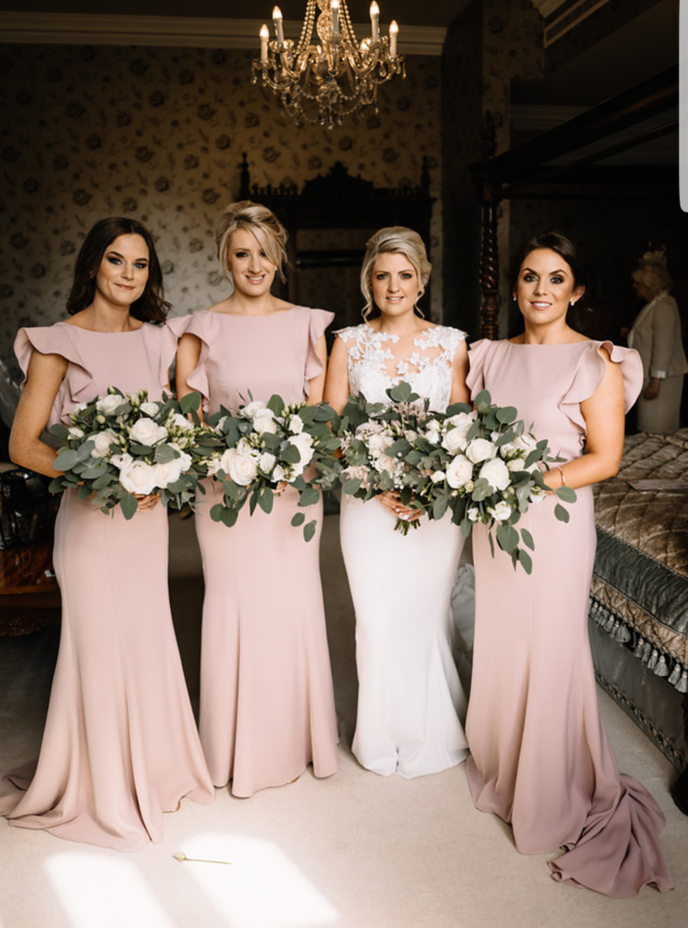 Edel's beautiful bridesmaids wearing Cecelia in Smoked Blush -  Photo Art Wedding Photography