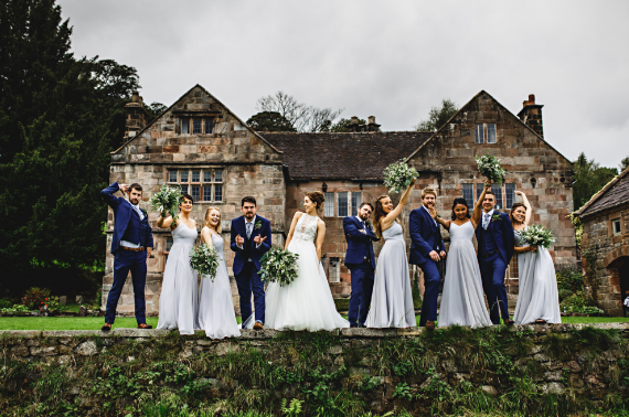 Edie in Silver Mist for Lauren's bridesmaids. Photo -  HBA Photography