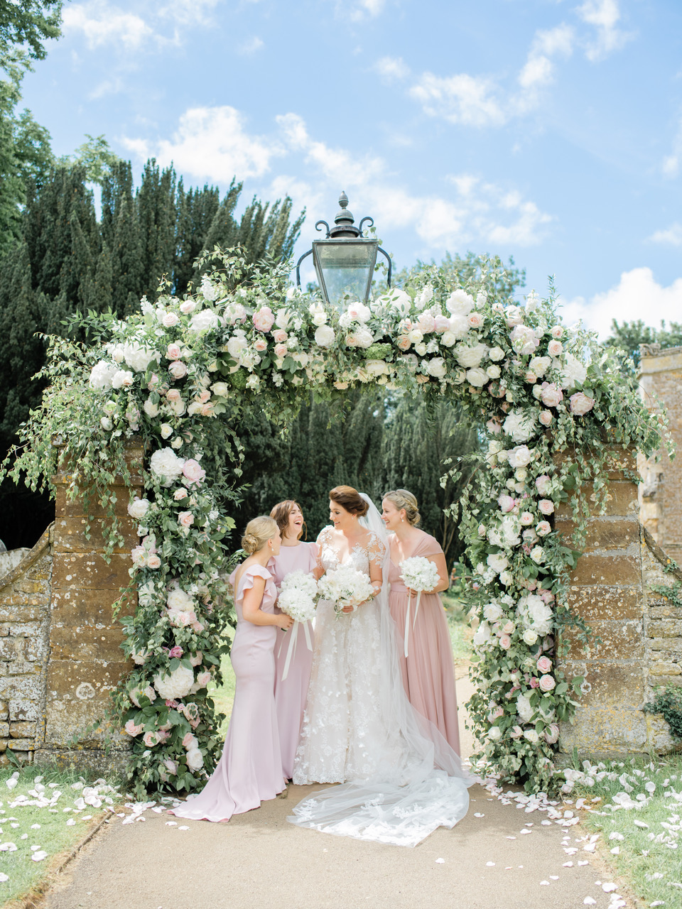 Breathtaking bride Emma with her bridesmaids in Cecelia and Bardot in Smoked Blush. Photo -  Stephanie Swann