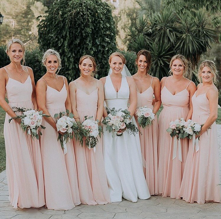 Emily's beautiful bridal party wearing Edie in Blush - Photo  Diana Hirsch