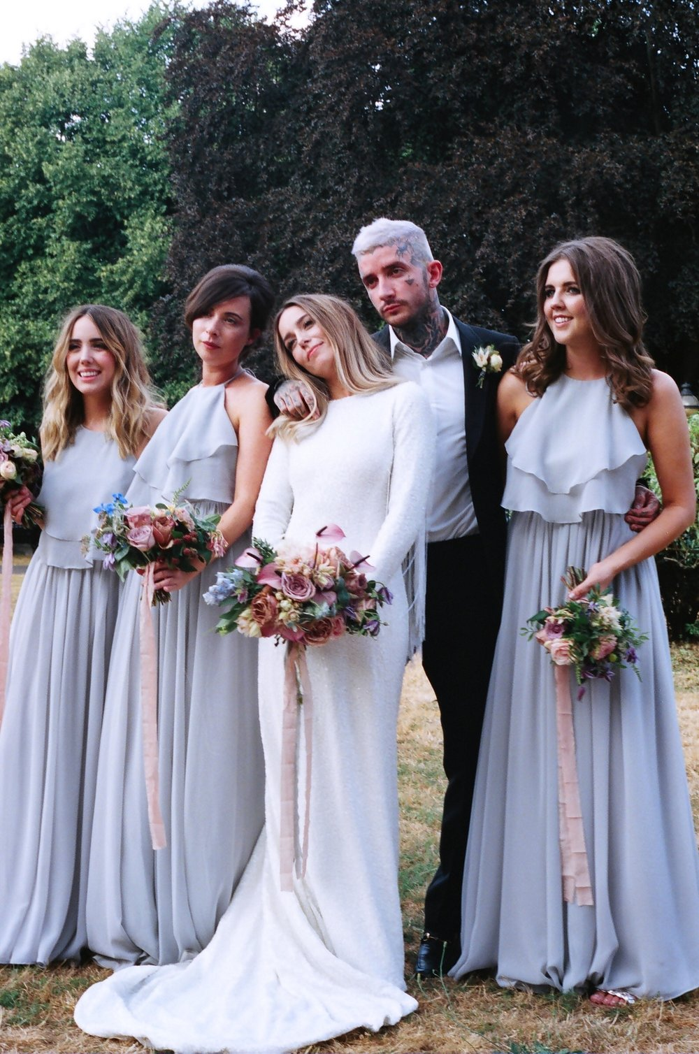 Kiri's sensational bridal party wearing Olympia in Silver Mist - Photo  Vodka Saved My Life