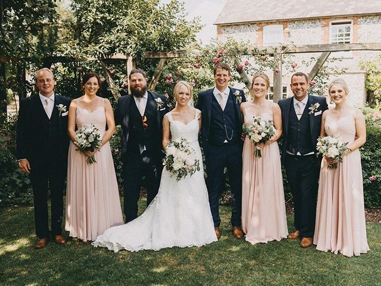Nikki's beautiful bridesmaids wearing Edie in Blush - Photo  Ali Paul Photography