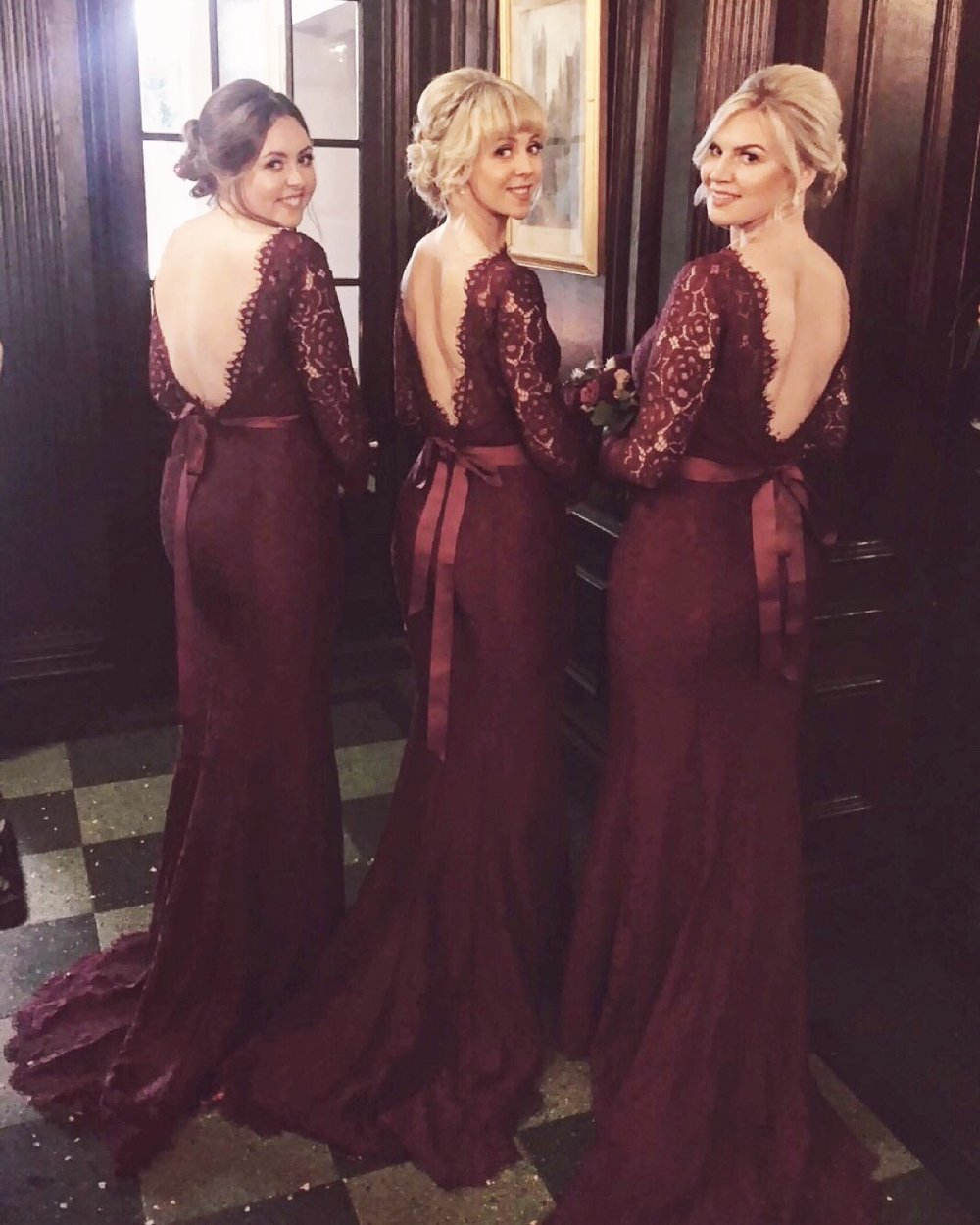 Danielle's best girls in our Alara Roseberry gowns.