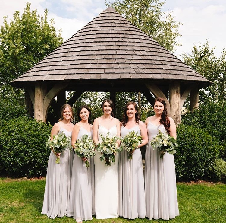 Gorgeous Jess and her best girls wearing Edie in Silver Mist - Photo  Foden Photography
