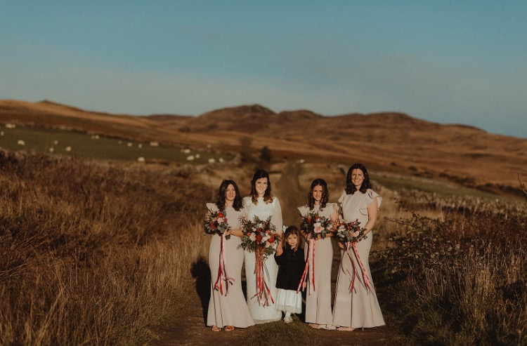 Rhona and her gorgeous girls wearing Cecelia in Smoked Blush - Photo  Nikki Leadbetter