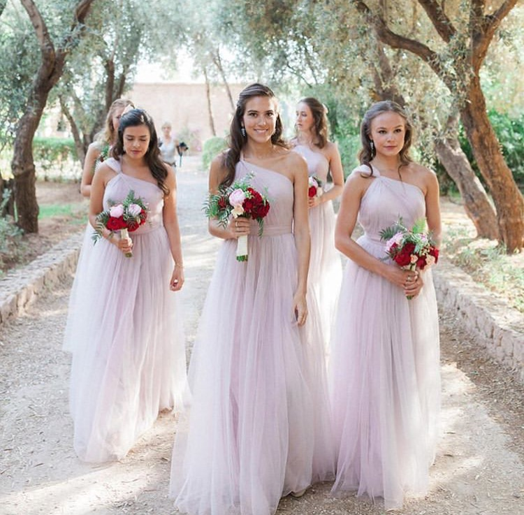 Gorgeous gown gang wearing Luna in Smoked Orchid - Photo Maria Rao