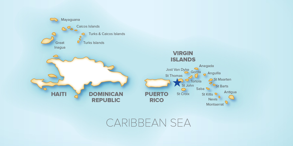 The Marina Crown Bay Marina - Us-virgin-islands-time-zone-map