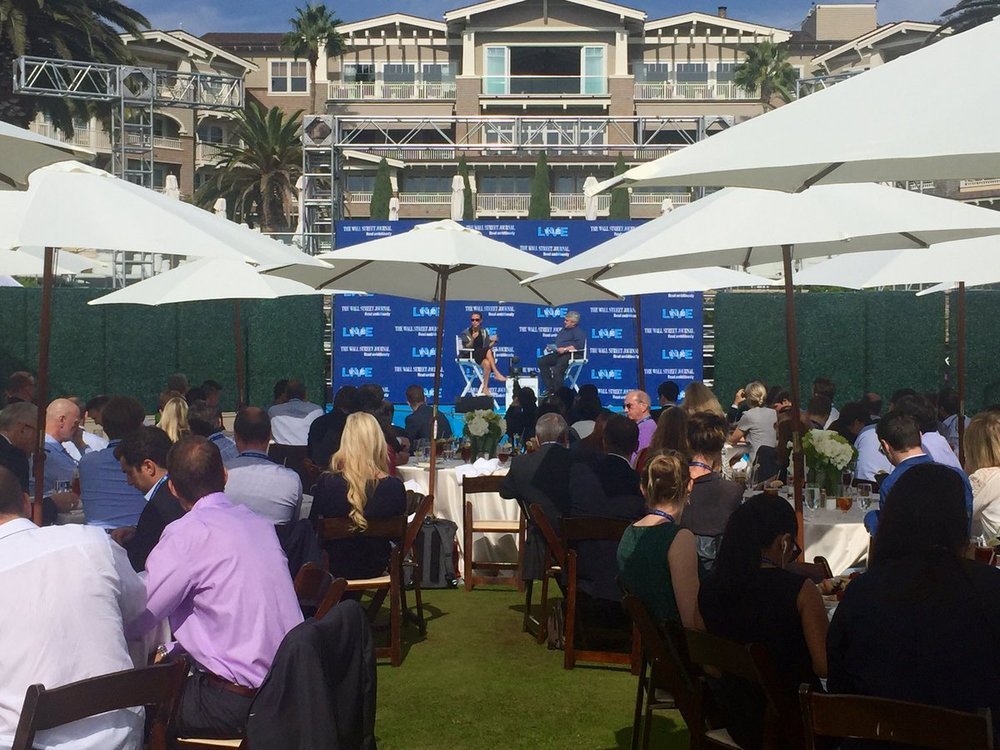WSJDLive 2016 was held in Laguna Beach, CA, October 24-26. Photo posted by Scott Austin, WSJ Tech Editor,from Wall Street Journal Twitter feed, 10/26/16.