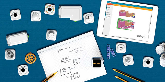 Plezmo. IOT based education platform that helps you learn program logic while you have smart fun. Pic by Plezmo