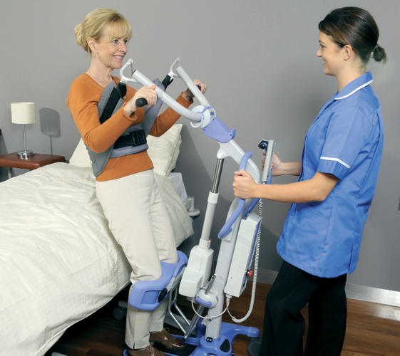 Oxford hoists help patients with essential manoeuvres and aid general mobility.