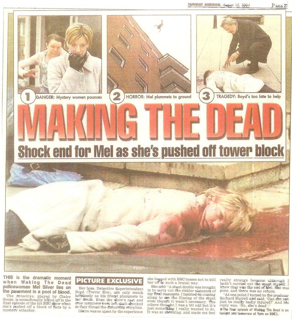 Waking The Dead High Fall Daily Mirror.jpg
