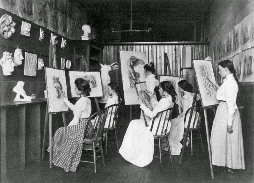 Frances Benjamin Johnston, Girls Art Class, 1889