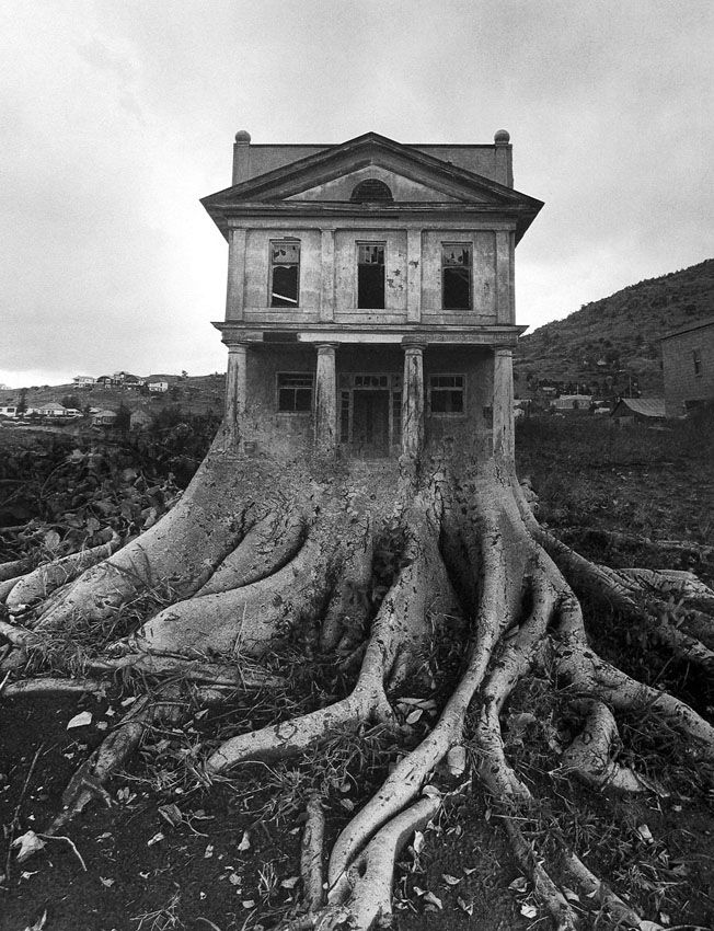 Jerry Uelsmann, Poet's House, 1965