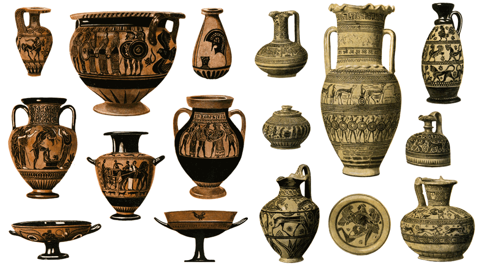 Ancient Greece pottery art