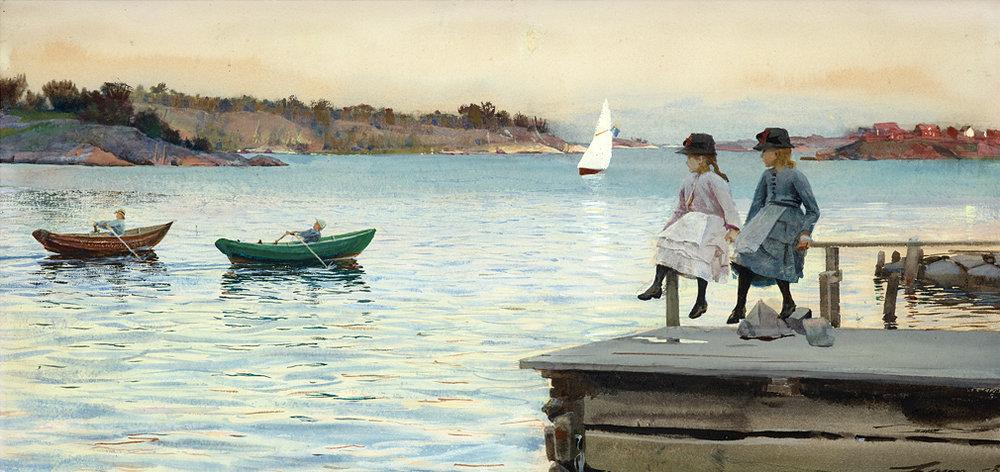 Anders Zornin, Kilpasoutu (1886)