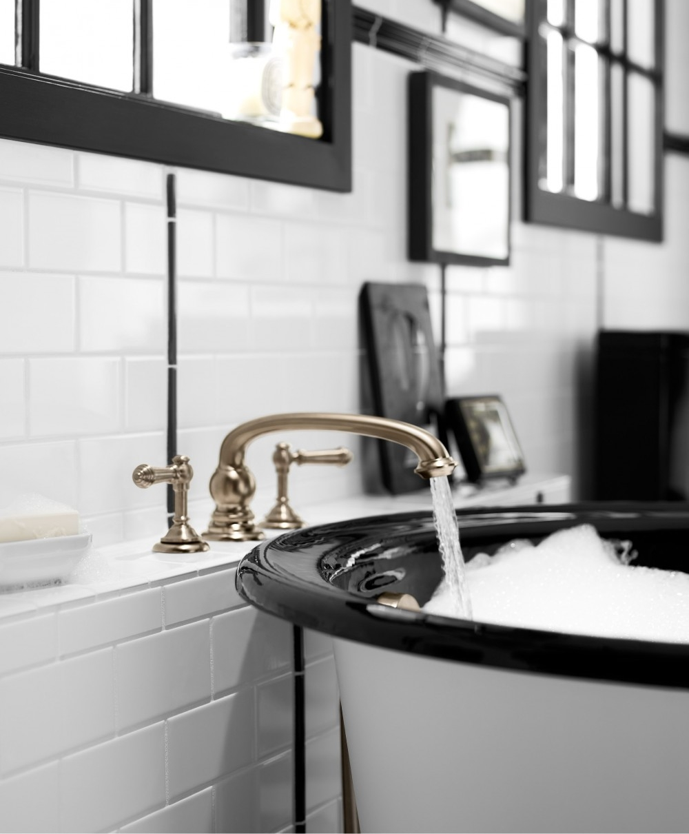 Artifacts Bath Faucet 72778, Iron Works Historic Tub 710