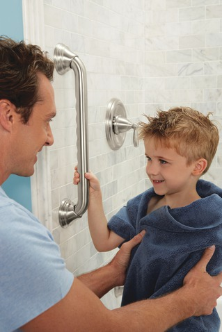 Grab bars keep everyone safe in the bathroom - young and old!