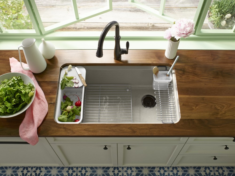 Soft Summer Kitchen KOHLER Bellera faucet, Riverby sink, Sink accessories.jpg