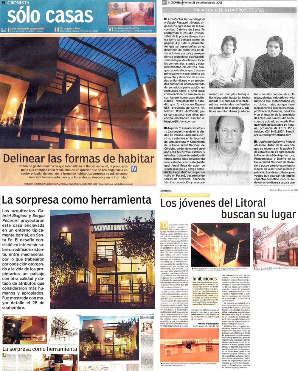 Diario El Cronista - 2001