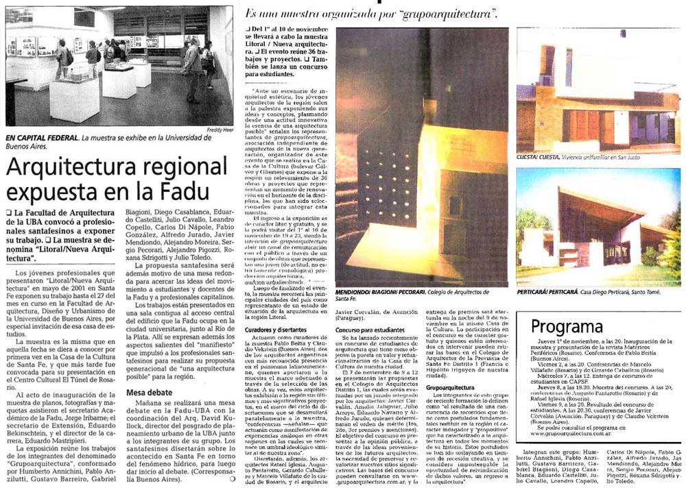 Diario El Litoral - 2001