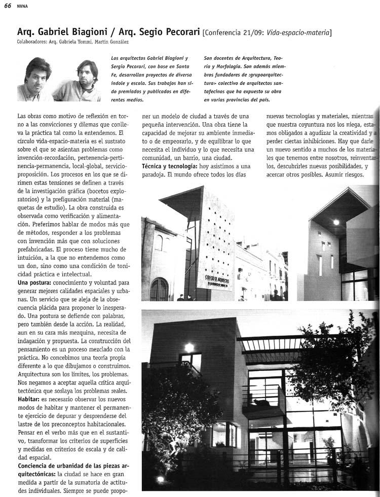 Revista Arquitectura - 2005