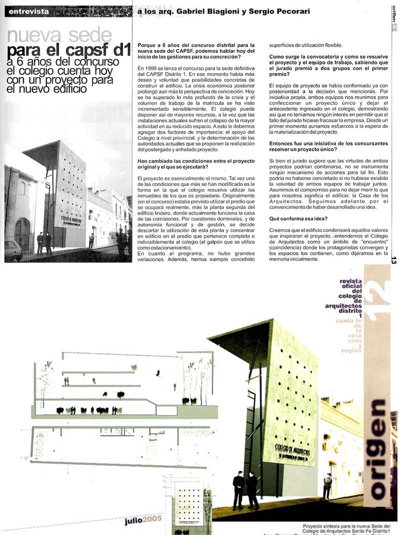 Revista Origen nº 16 - 2005
