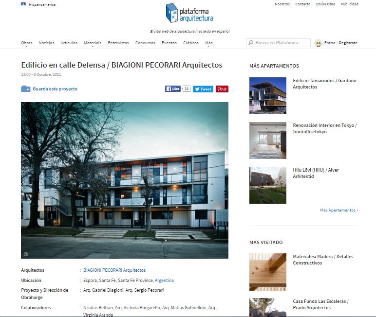 Web - Plataforma Arquitectura - 2011
