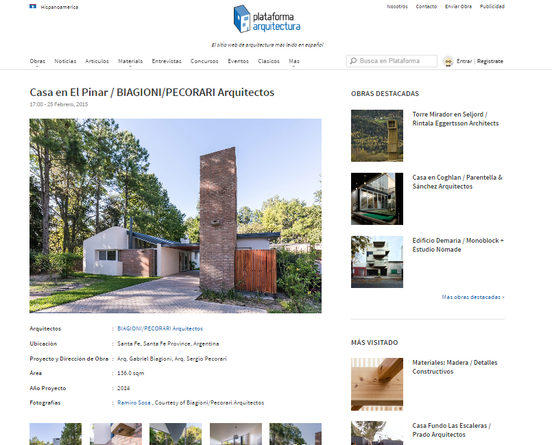Web - Plataforma Arquitectura - 2015