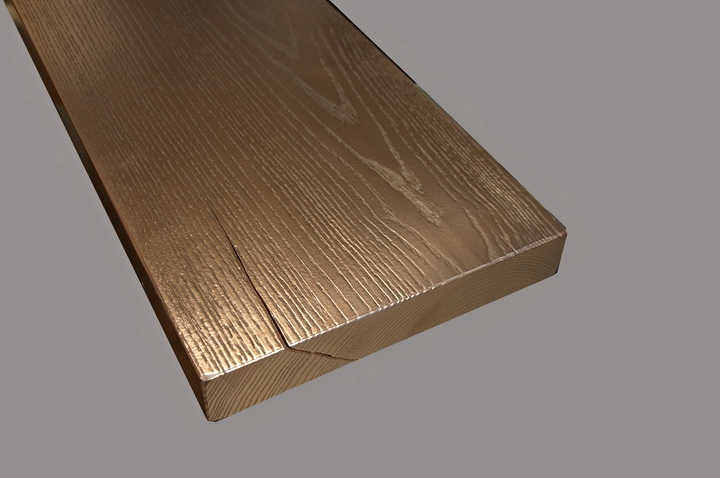 Copper Bar Top Wood Grain Sample