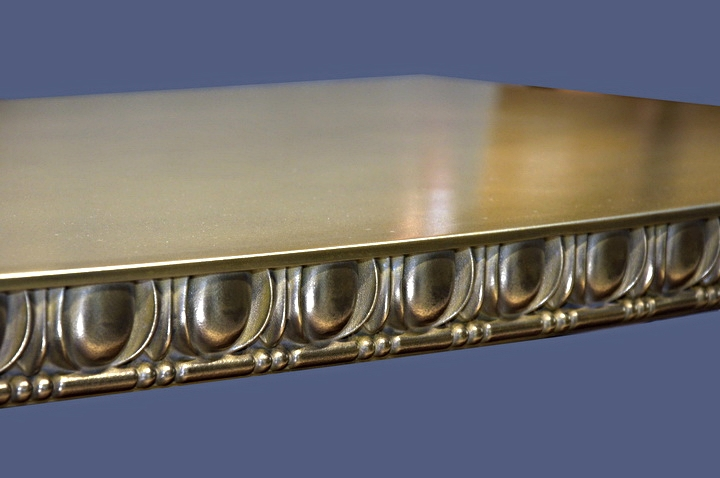 Brass Countertop with Egg and Dart Edge Profile