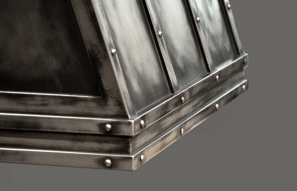 Heavily Shaded Metal Range Hood Shell