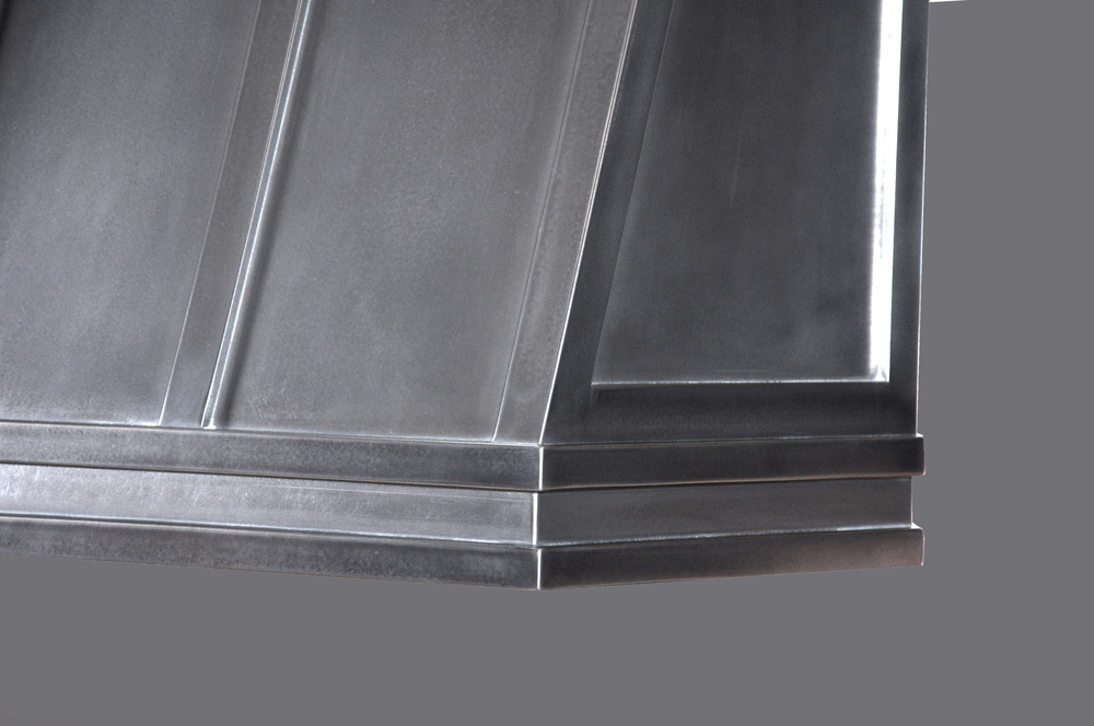 Stainless Steel Close-Up on Range Hood Shell
