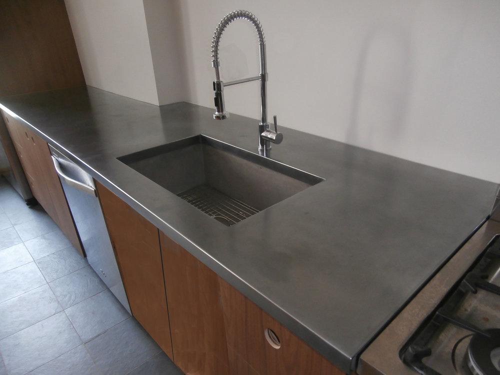 Stainless Steel Cold Cast Countertop