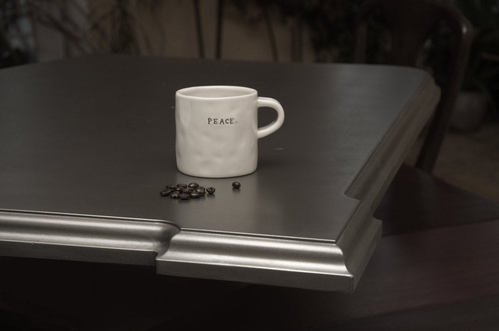 Zinc Countertop with Notched Corner