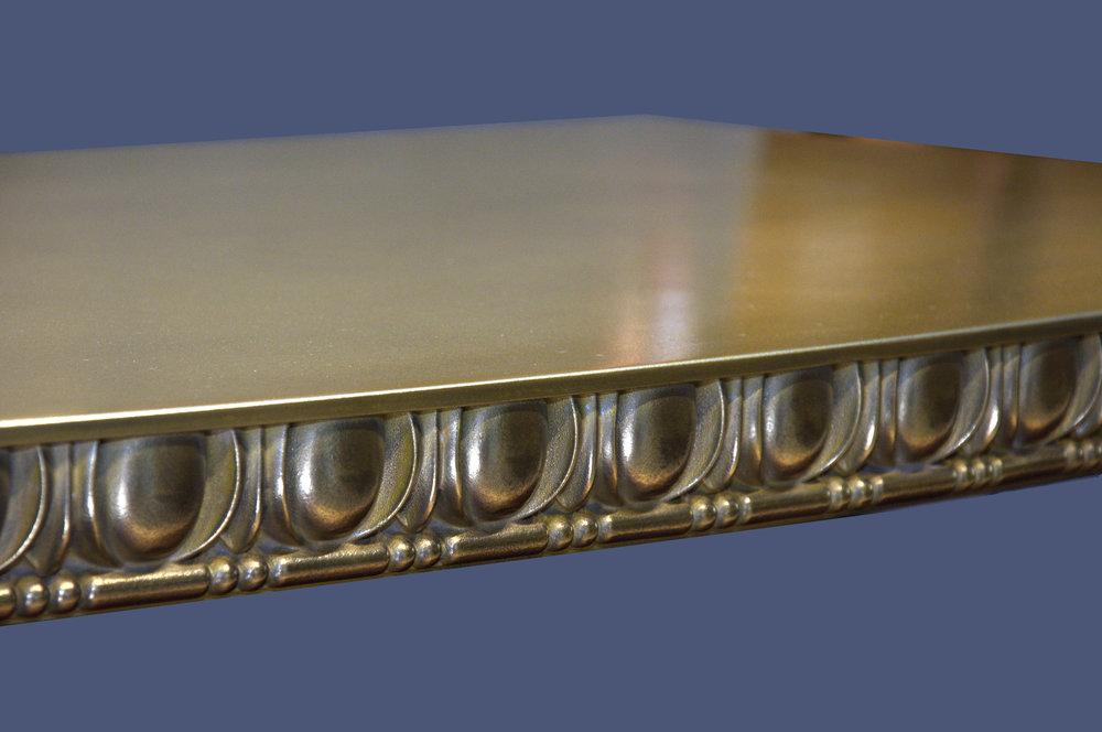 Artisan Cast Brass Egg and Dart Table