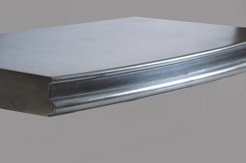 Wellington Metal Edge Profile in Stainless Steel