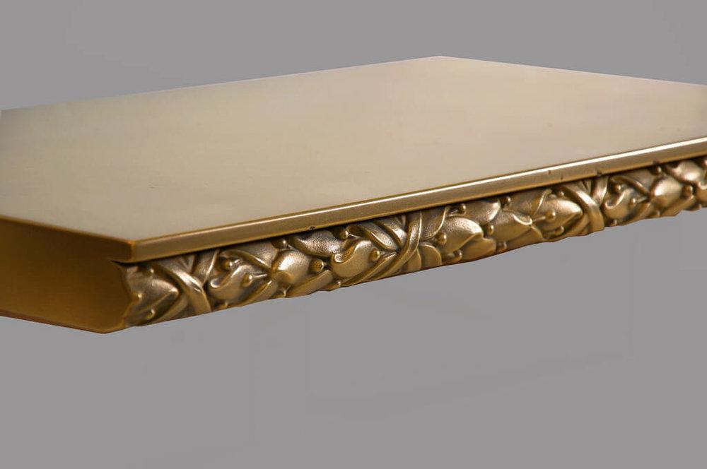 Saratoga Metal Edge Profile in Brass