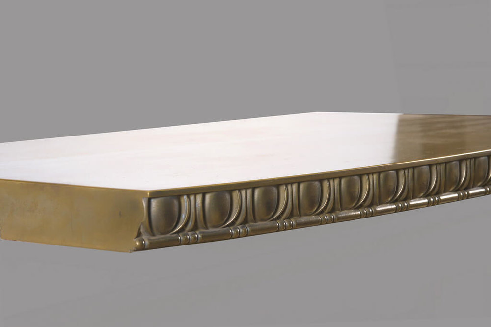 Egg and Dart Metal Edge Profile in Brass
