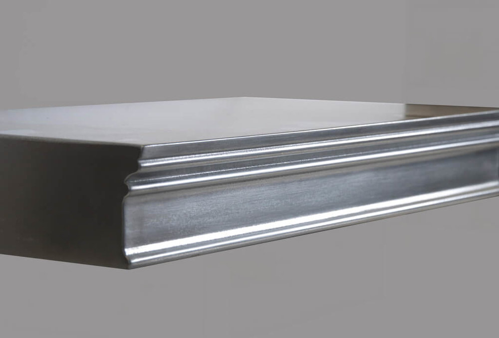 Harvard Cold Cast Edge Profiles in Stainless Steel