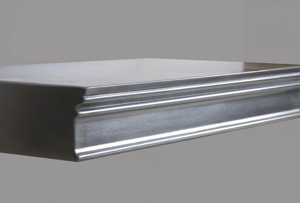 Harvard Artisan Cast Metal Edge Profiles in Stainless Steel