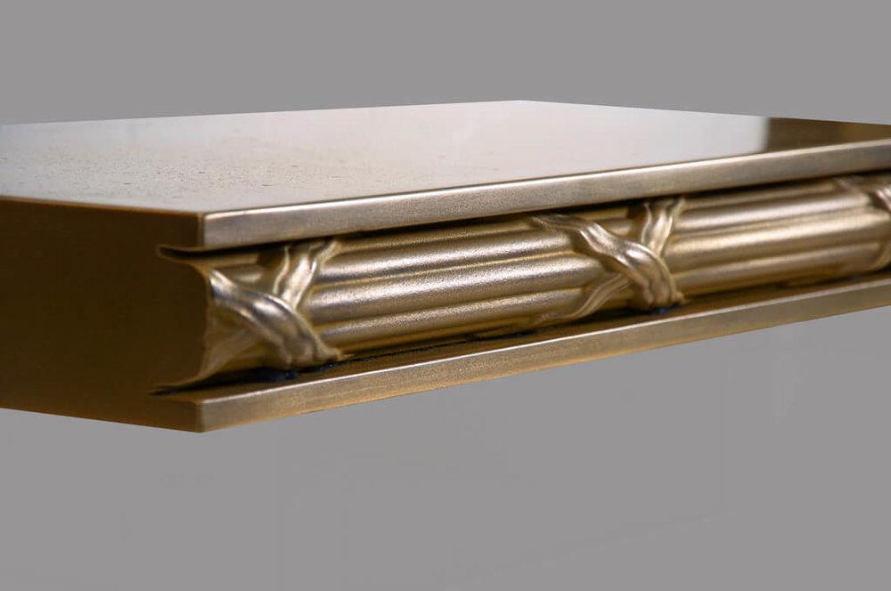 Arlington Style Artisan Cast Metal Edge Profile in Brass