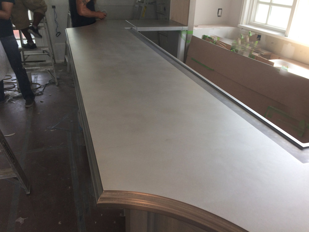 choices and french pewter metal zinc ctop countertops country considerations