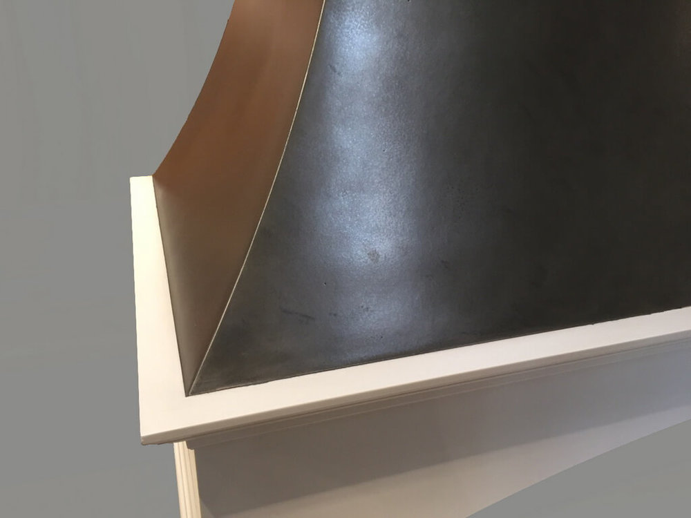 Metal Range Hood Closeup
