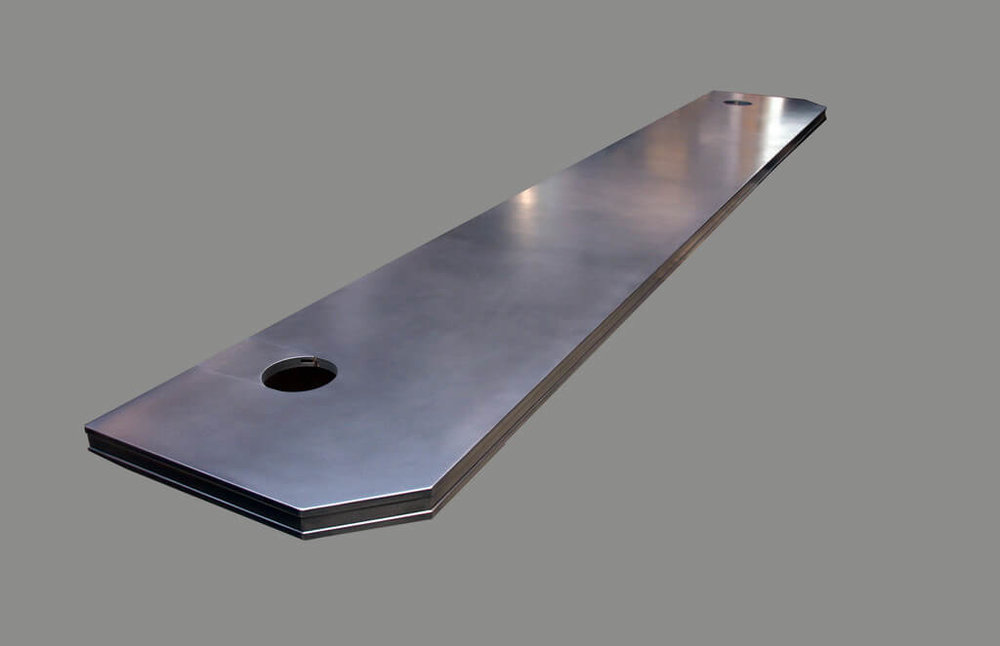 Stainless Steel Countertop with Stamford Edge Profile