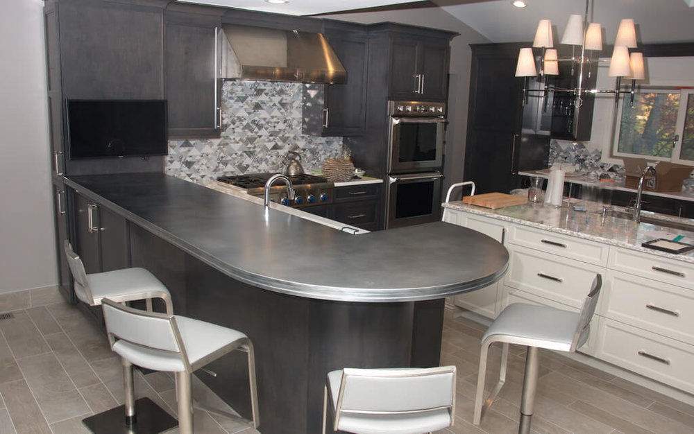 Zinc Artisan Cast Countertop