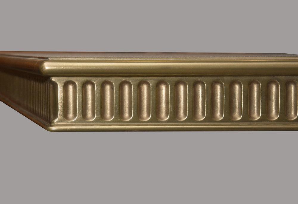 Corinthian Metal Edge Profile in Brass