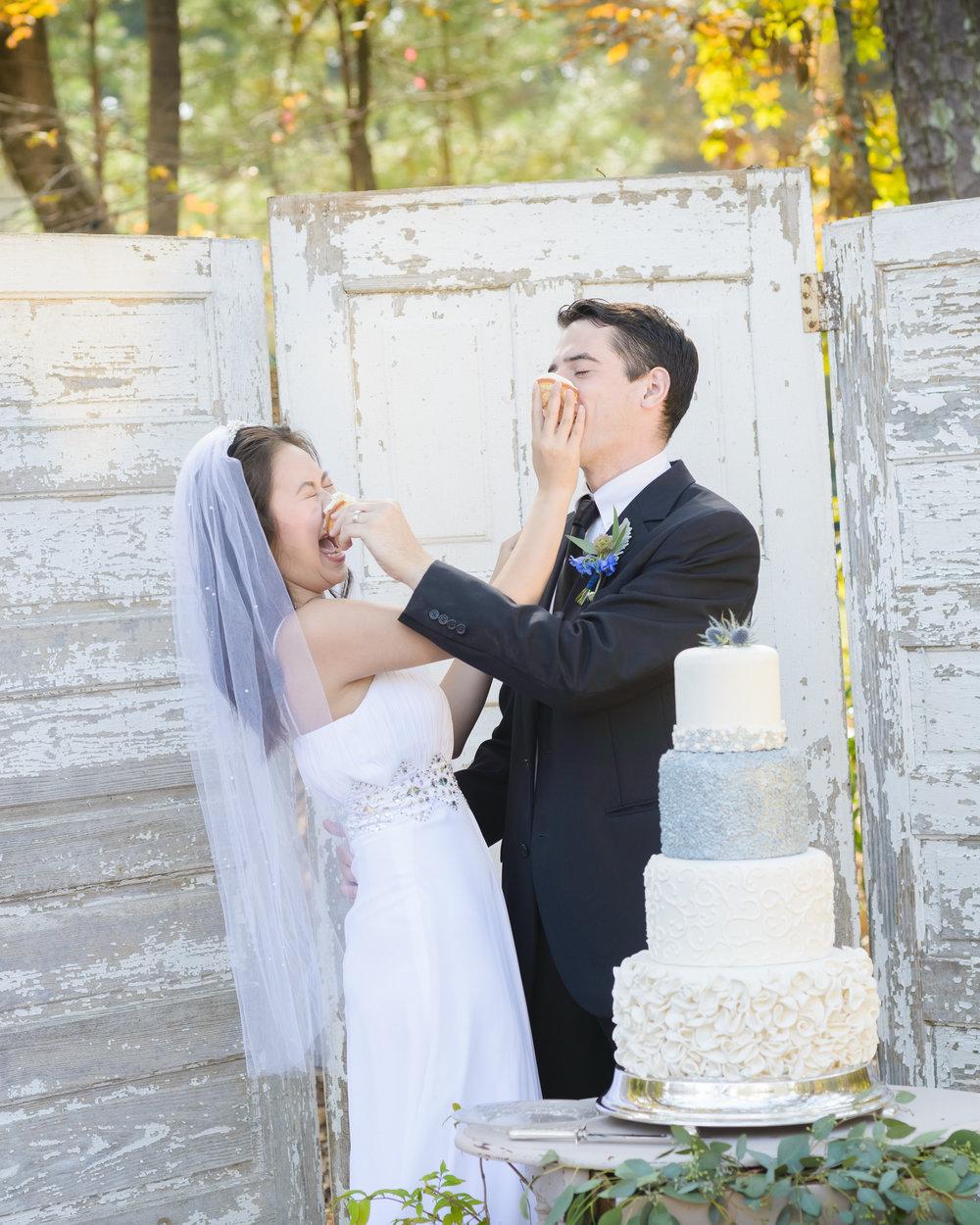 cake cutting wedding ceremony