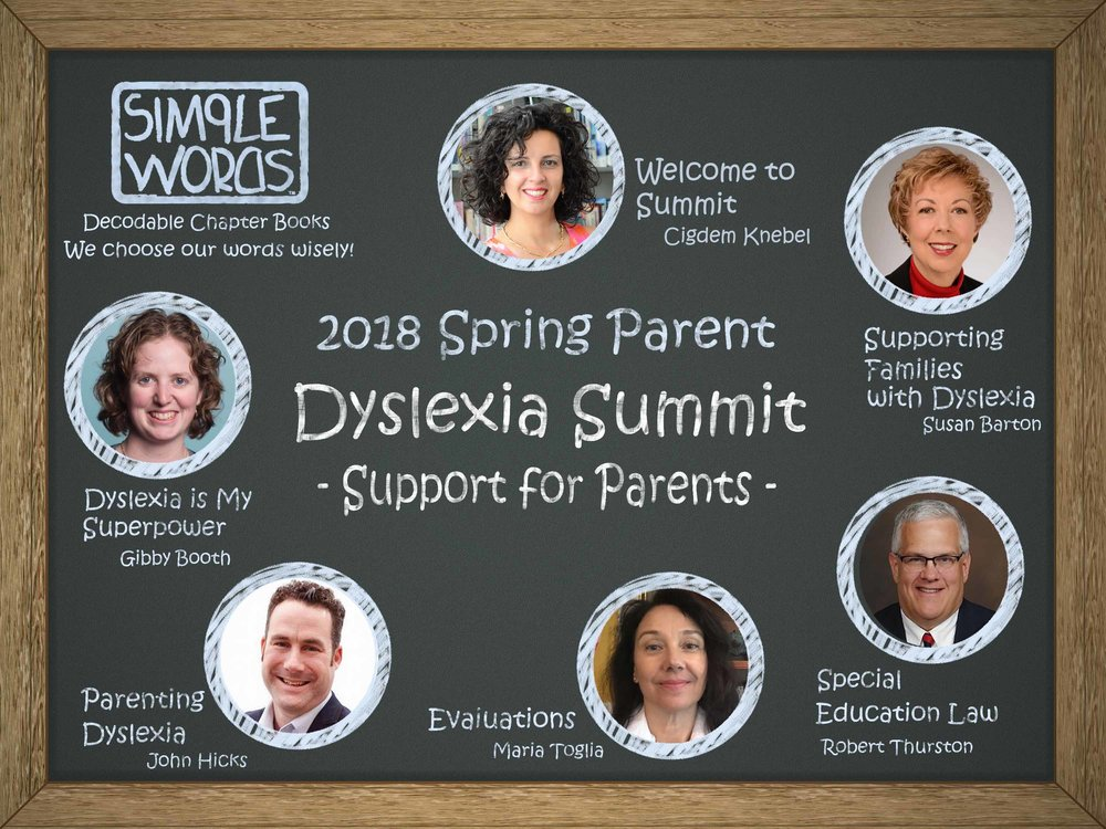 Online Dyslexia Summit 2018 Spring Simple Words Books