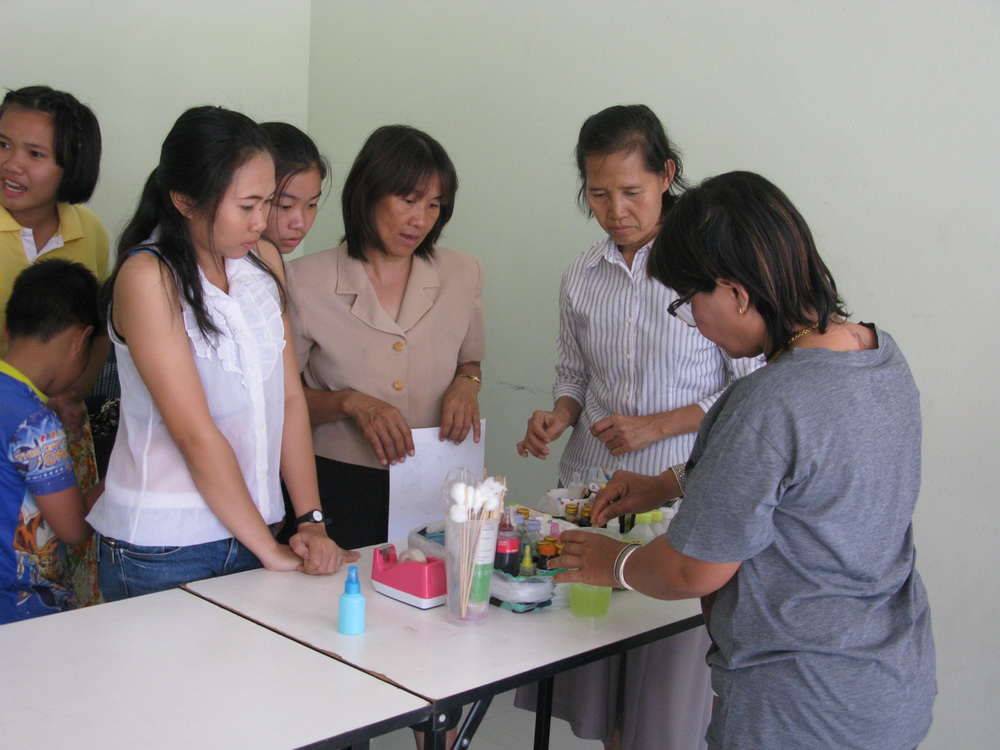 Women in Thailand we are currently teaching to make soap. When the time comes, we will purchase their soap and make it available under the Freegrance brand.